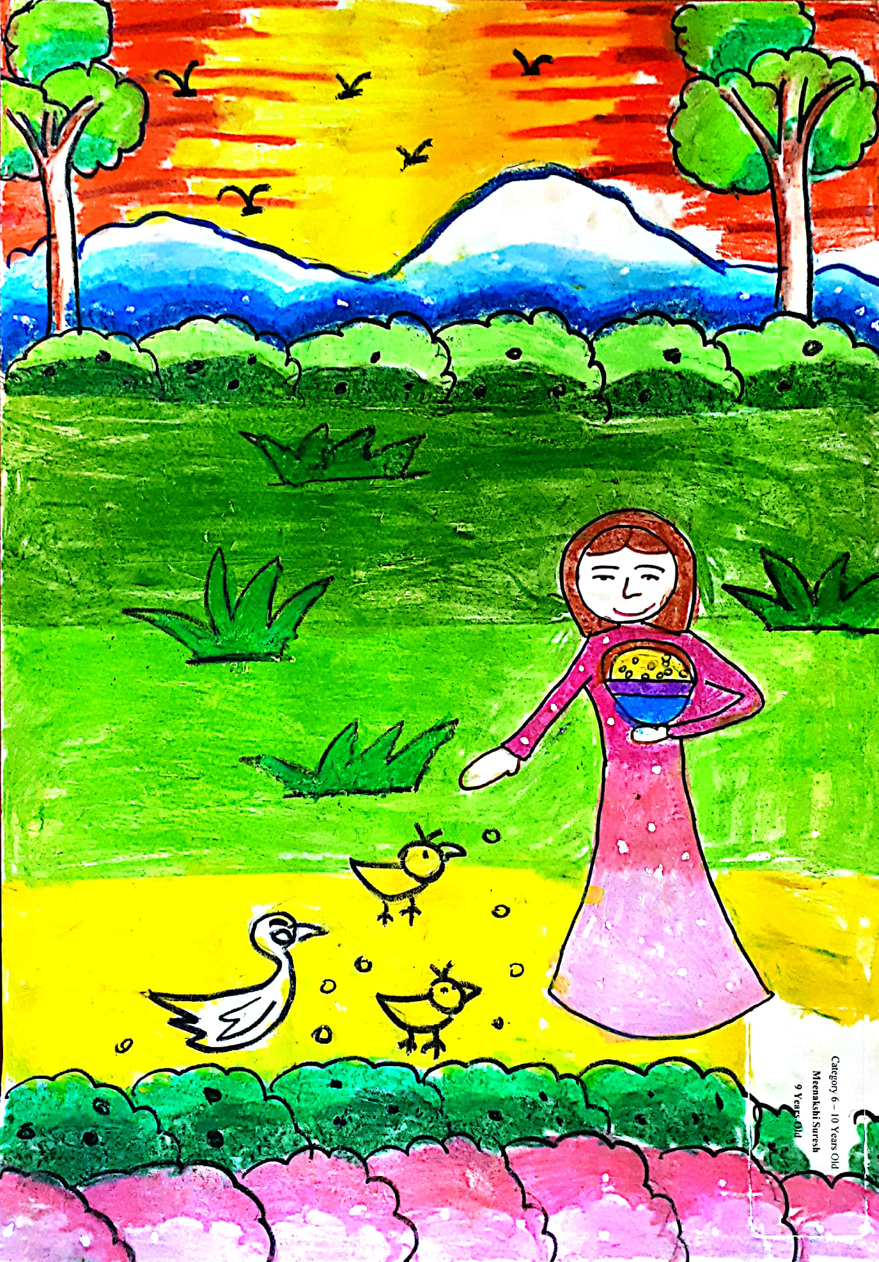 Second Prize: Meenakshi Suresh - 9 Years Old