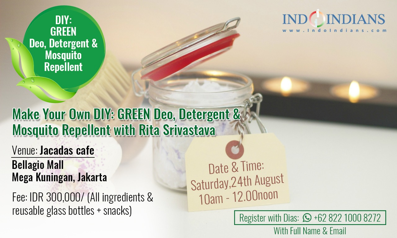 DIY Green Products Workshop with Rita Srivastava on 24th August