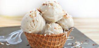 Vegan ice cream made with coconut milk