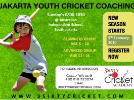 Jakarta Cricket youth coaching 2020