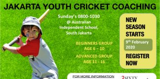 Jakarta Cricket youth coaching 2020