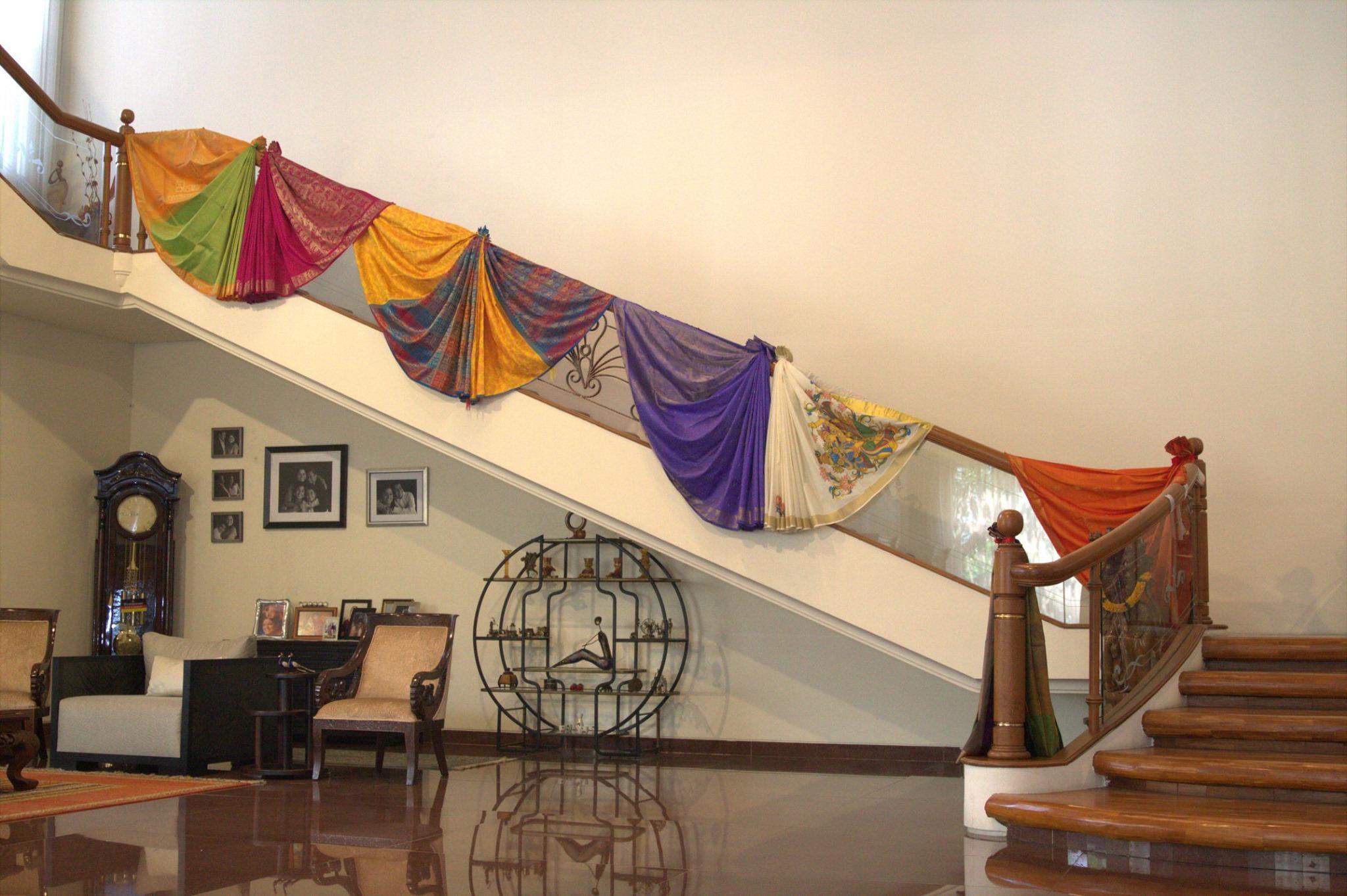sarees as a backdrop for Indoindians Saree Story
