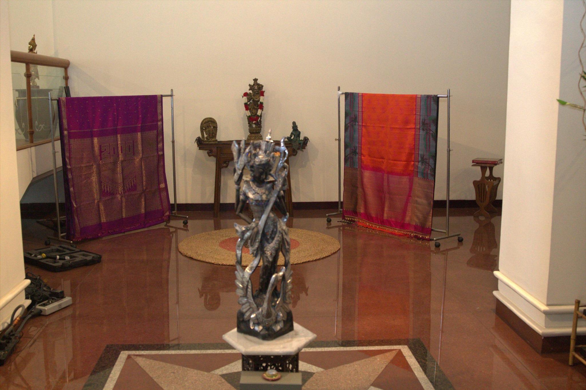 Sarees displayed