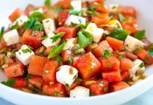 Quick and Easy Watermelon Salad
