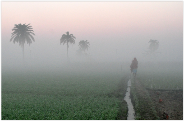Indian Village at sunrise