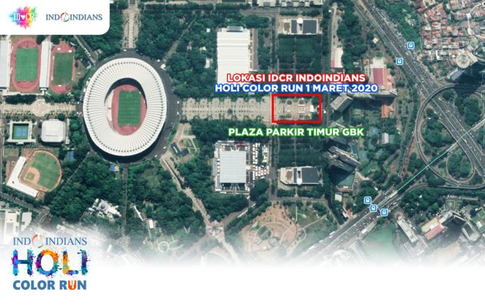 Location of IDCR Indoindians Holi Color Run at GBK, Senayan