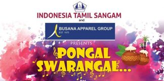 """Indonesia Tamil Sangam proudly presents a South Indian musical show on 18th January, 2020. We invite you for our Pongal event – """"Pongal Swarangal"""" a live musical show to be performed by the mesmerizing singers – Srinivas, SPB Charan, Kalpana & Alka Ajith along with complete orchestra of Mouna Ragam Murali, on Saturday, 18th January, 2020."""