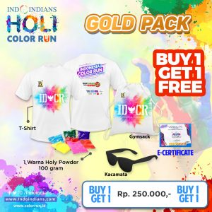 buy 1 get 1 gold race pack for IDCR Holi Color Run