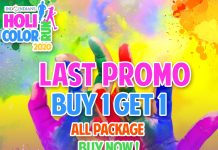 buy 1 get 1 promo IDCR Holi Color Run