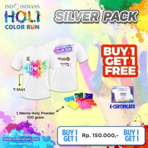 buy 1 get 1 silver race pack for IDCR Holi Color Run