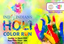 Indoindians Holi Color Run 2020 Ticket Poster