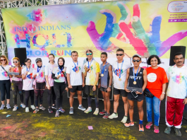 Top 10 finishers at the 5K Indoindians Holi Color Run 2020