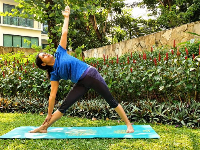 Indoindians Yoga Challenge Day 1 - Extending Triangle Pose