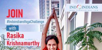Join Indoindians Yoga Challenge with Rasika Krishnamurthy