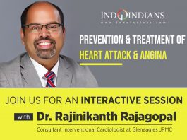 Indoindians Online Event Prevention & Treatment of Heart Attack and Angina with Dr Rajinikanth