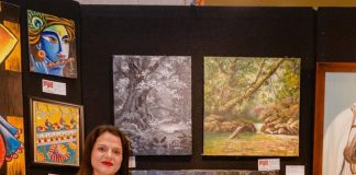 Madhushree Bansal at Art Exhibition
