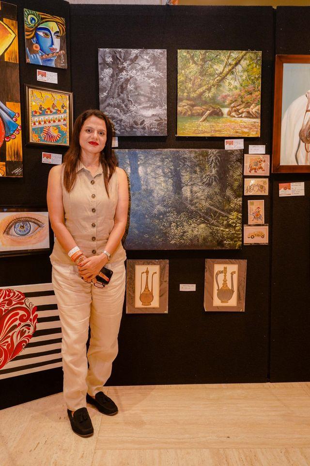 Madhushree Bansal at Art Exhibition