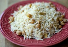 Kamalkakri-Channa-Pulao-Lotus-Stem-and-Garbanzo-Beans-Pilaf-by-Nina-Taneja