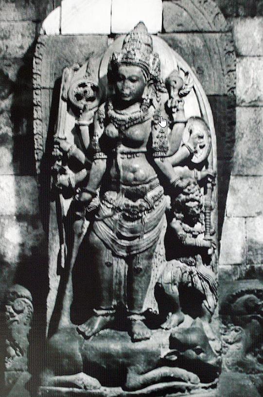 Durga statue at Prambhanan Temple