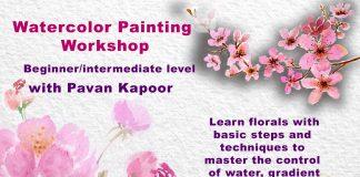 Indoindians Online Event Watercolor Painting Workshop with Pavan Kapoor