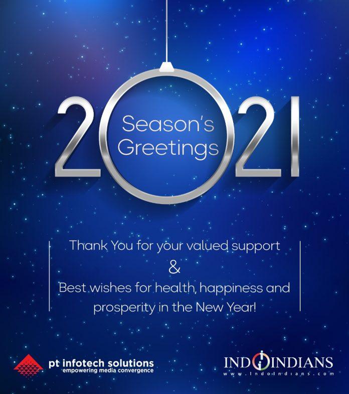 Infotech Indoindians New Year Card 2021