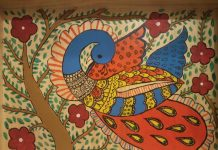 madhubani peacock by Meha Agarwal