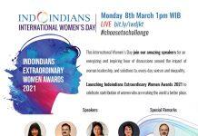 Indoindians Celebrates LIVE International Women's Day Monday, 8th March 2021