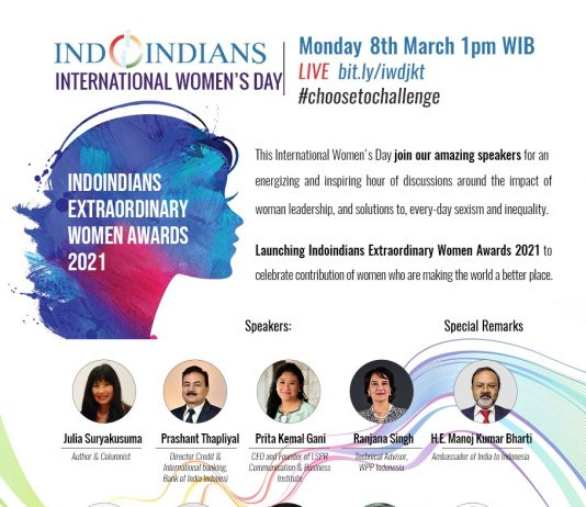 Indoindians Celebrates LIVE International Women's Day Monday, 8th March 2021