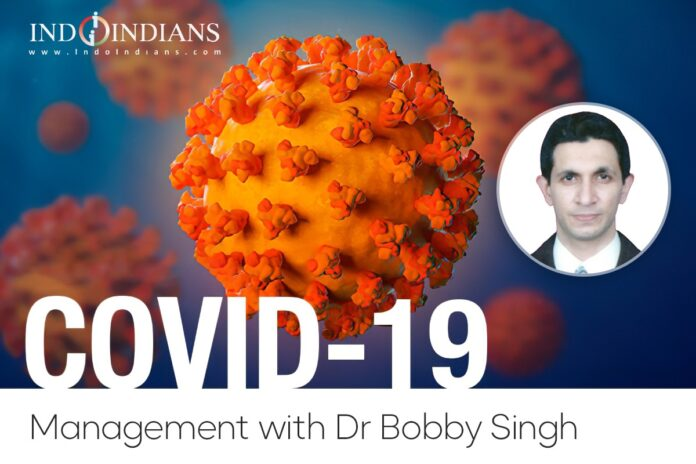 Indoindians Online Event All About COVID Management with Dr. Bobby Singh, Pulmonologist