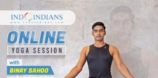 Indoindians Online Event: Yoga Session with Binay Sahoo Sunday, 20th June at 7am