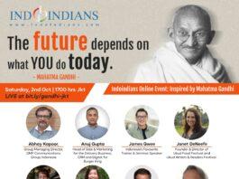 Indoindians Online Event Inspired by Gandhi