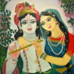 Digital painting-Radha krishna by Shanthi Seshadri