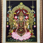 Goddess Mahalakshmi - Tanjore painting by Shanthi Seshadri