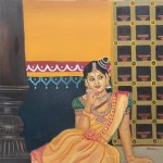 The Bride - Oil painting on Canvas by Shanthi Seshadri