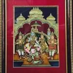Ramabhatabishekam - Tanjore painting by Shanthi Seshadri