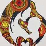 Mother's love - Zentangle by Shanthi Seshadri