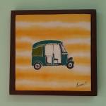 Autorickshaw yellow by Jumana Mohammed Qayyumi