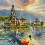 Beratan water temple, Bali by Vijaya Rani Birla