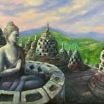 Borobudur temple by Vijaya Rani Birla