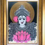 Goddess Laxmi painting by Vibha Singh