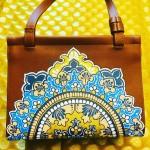 Handpainted Mandala on Handbag by Vibha Singh