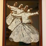 Whirling Dervish glass painting by Jyoti Joshi